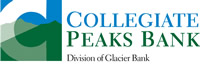 Collegiate Peaks Bank logo - Division of Glacier Bank