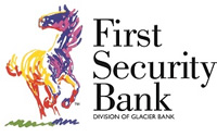 First Security Bank logo with horse - Division of Glacier Bank